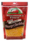 8oz Finley Shredded Sharp Cheddar