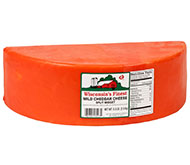 5.5lb. Red Wax Mild Cheddar Split Midget