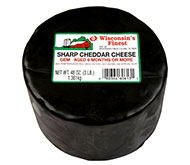 3lb. Black Wax Sharp Cheddar Gem