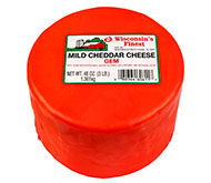 3lb. Red Wax Mild Cheddar Gem
